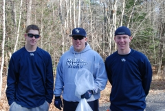 UNH Baseball Volunteers at Newfields Road Race