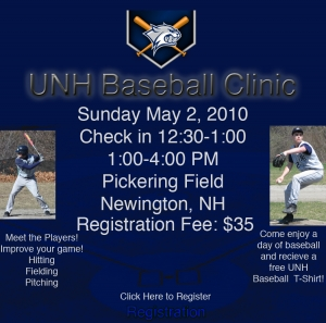 UNH Baseball Clinic 2010